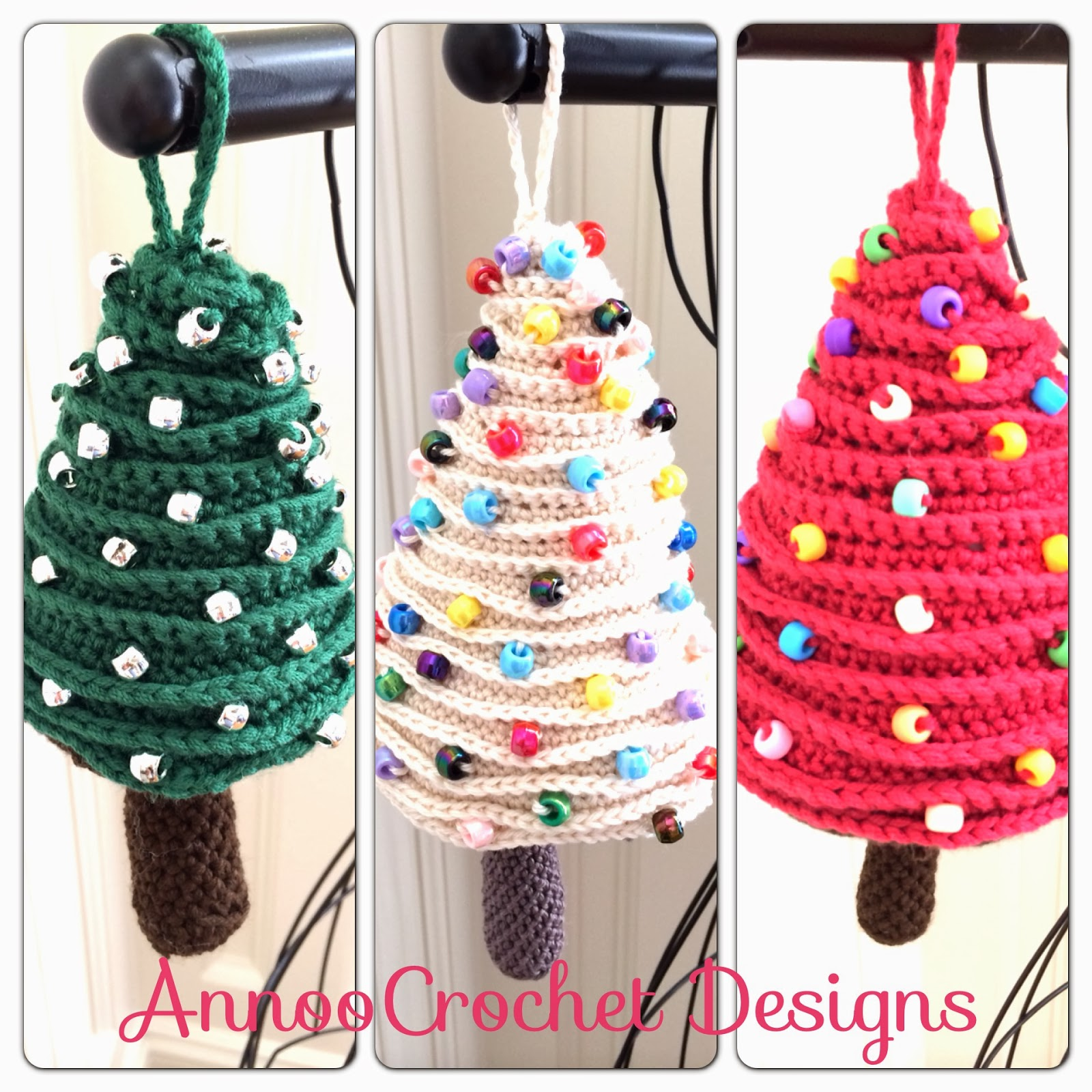 Annoo\'s Crochet World: Tree Ornaments Free Pattern
