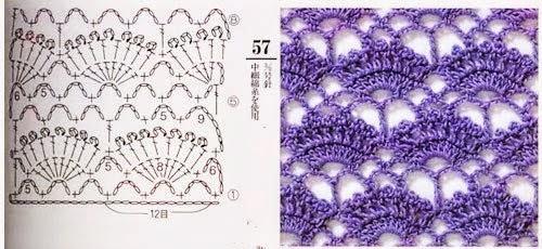 3 puntos bonitos al crochet