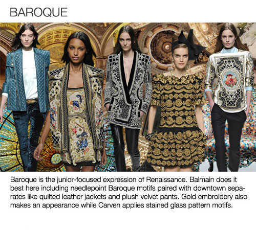 Fcm Style Dark Romance And Baroque Fashion For Fall Winter 2013 14