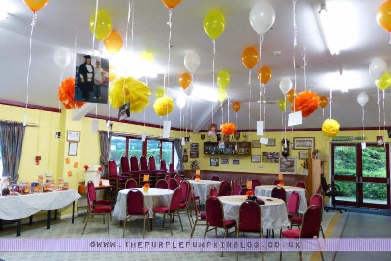 Orange yellow 40th birthday party decorations for 40th anniversary party decoration ideas