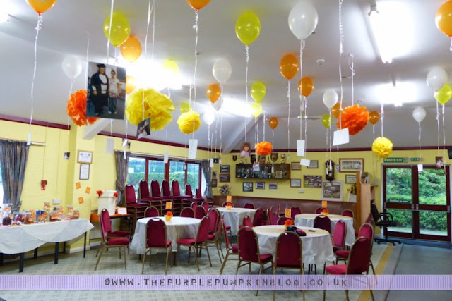 Orange yellow 40th birthday party decorations for 40th bday decoration ideas