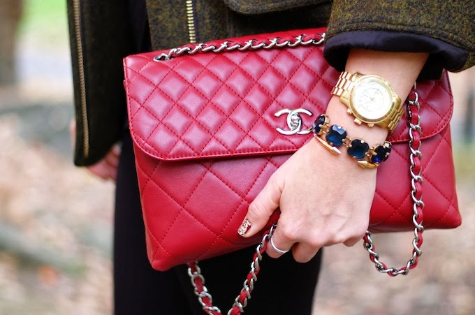 Chanel Rouge Fonce In The Business Flap Bag