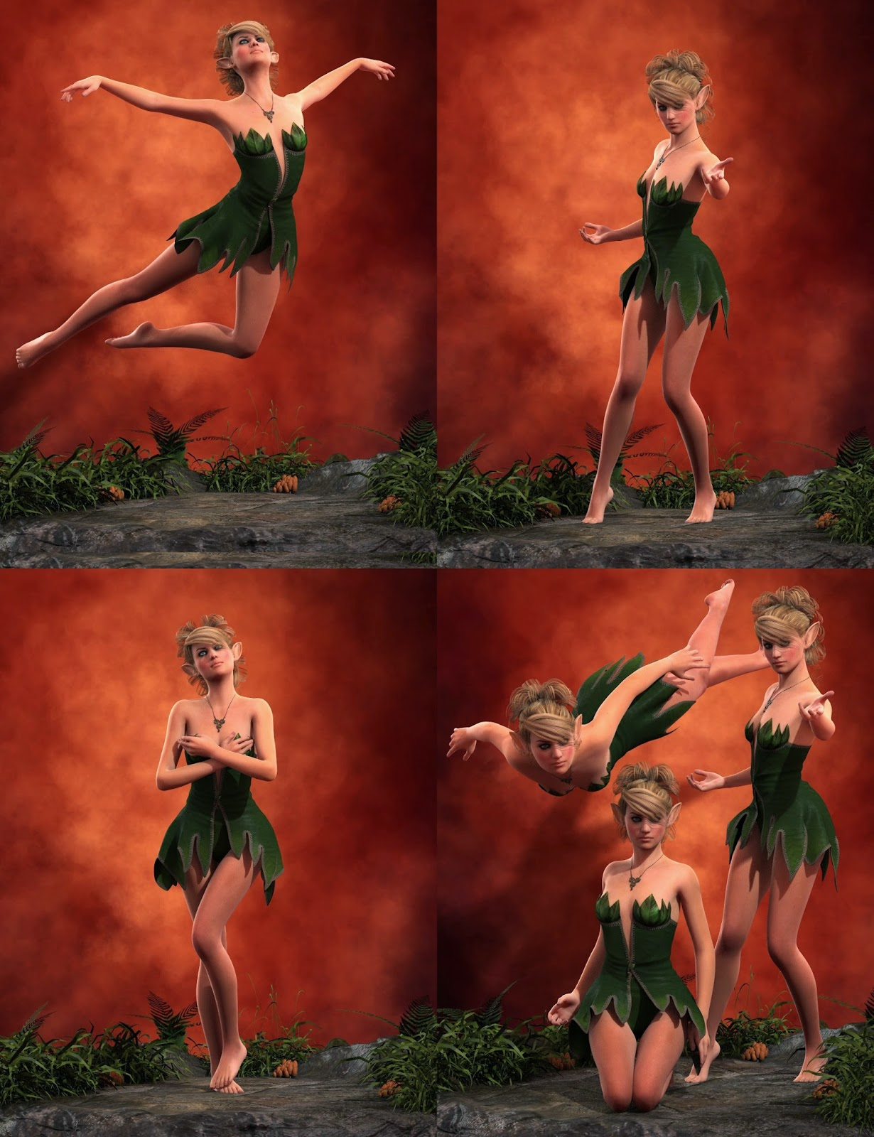 3d Models - Fairy Poses for Genesis 2 Female(s)