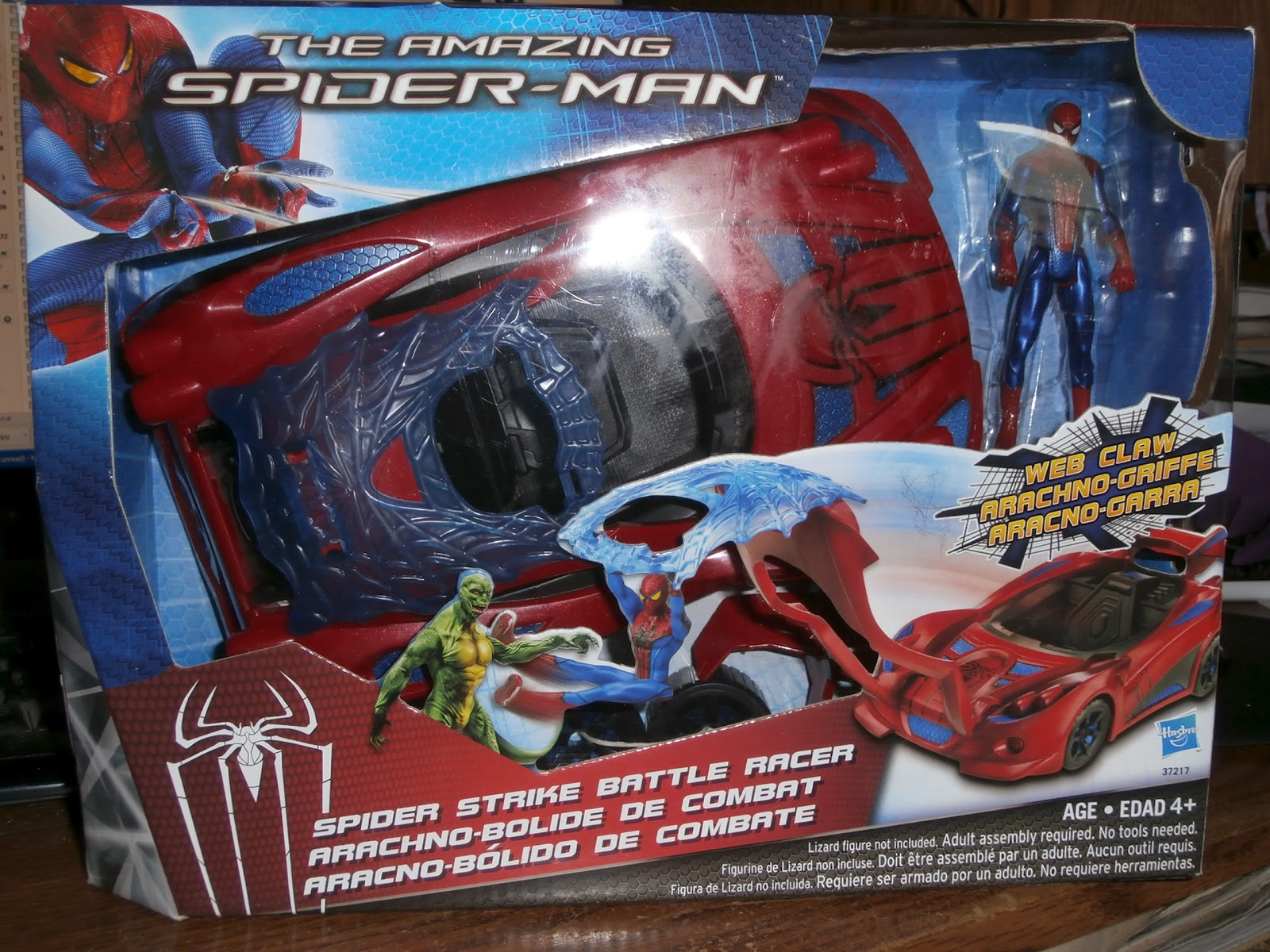 Hasbro The Amazing Spider-Man Spider Strike Vehicle /& Figures Lizard Kids Toy