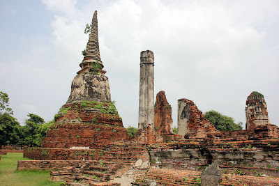 Remains of the ancient capital of Ayutthaya Thailand