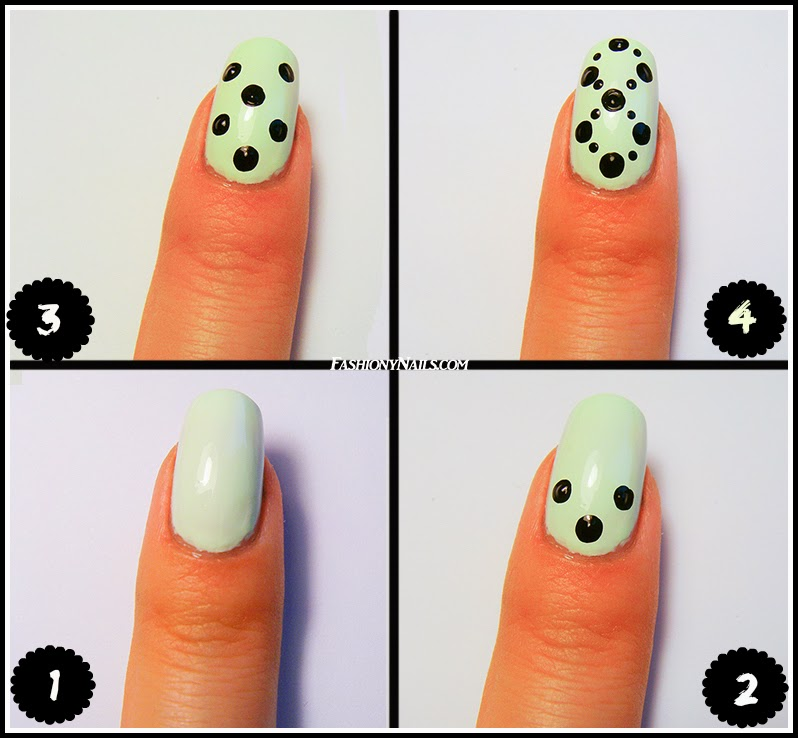 Easy Dotted Nail Design Tutorial