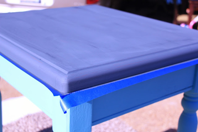 ce ce caldwells, chalk paint, destin gulf green, how to,end table,vermont slate