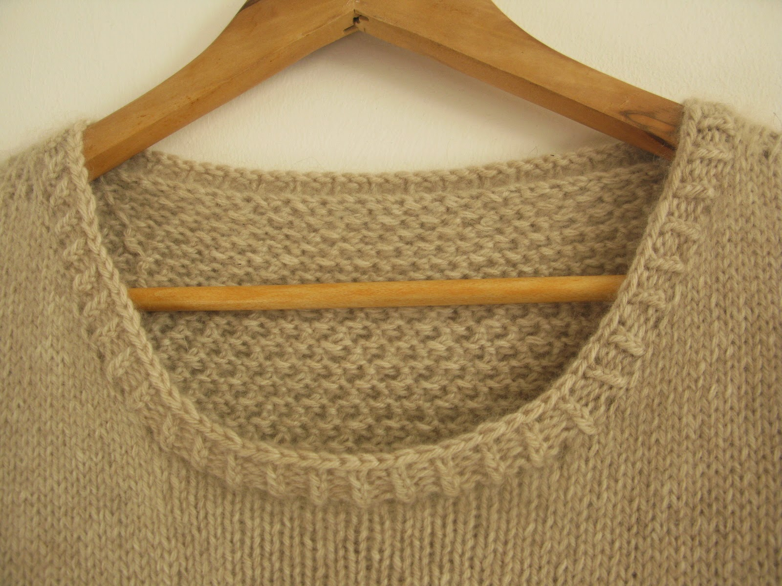 neat neckline knitting pattern