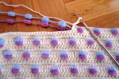 Nova corda Mulberry cobertor do bebê de crochê