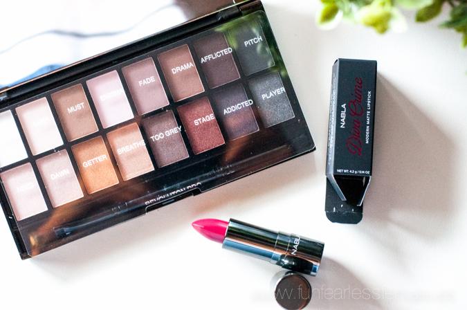 makeup revolution, iconic pro, palette, nabla, alter ego, diva crime, matte lipstick, lorac pro, dupe