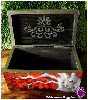 Game of Thrones Stark family decoupage chest