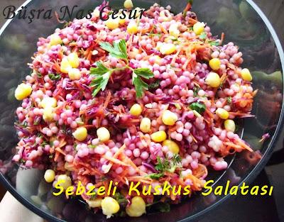 sebzeli kuskus salatası