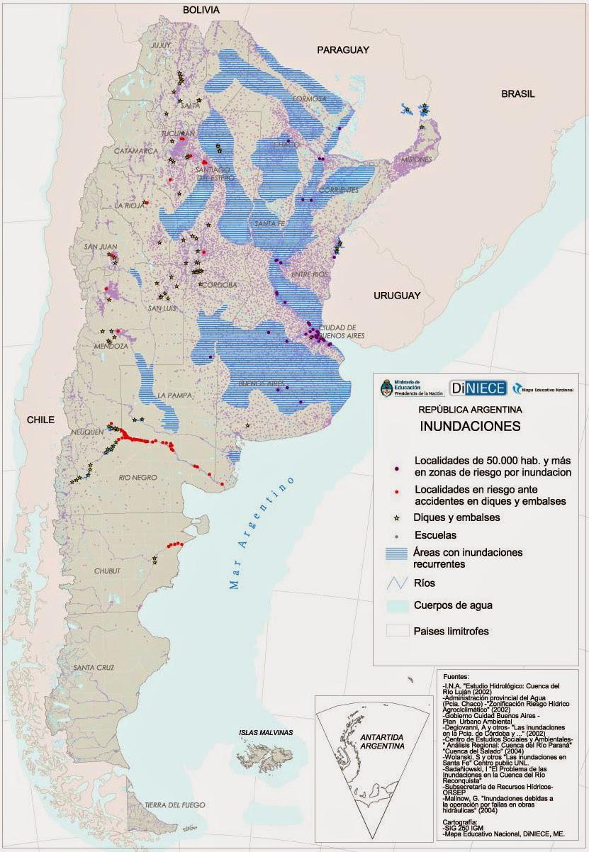 Geograf a de argentina aguas continentales de la argentina for Ambientes de argentina