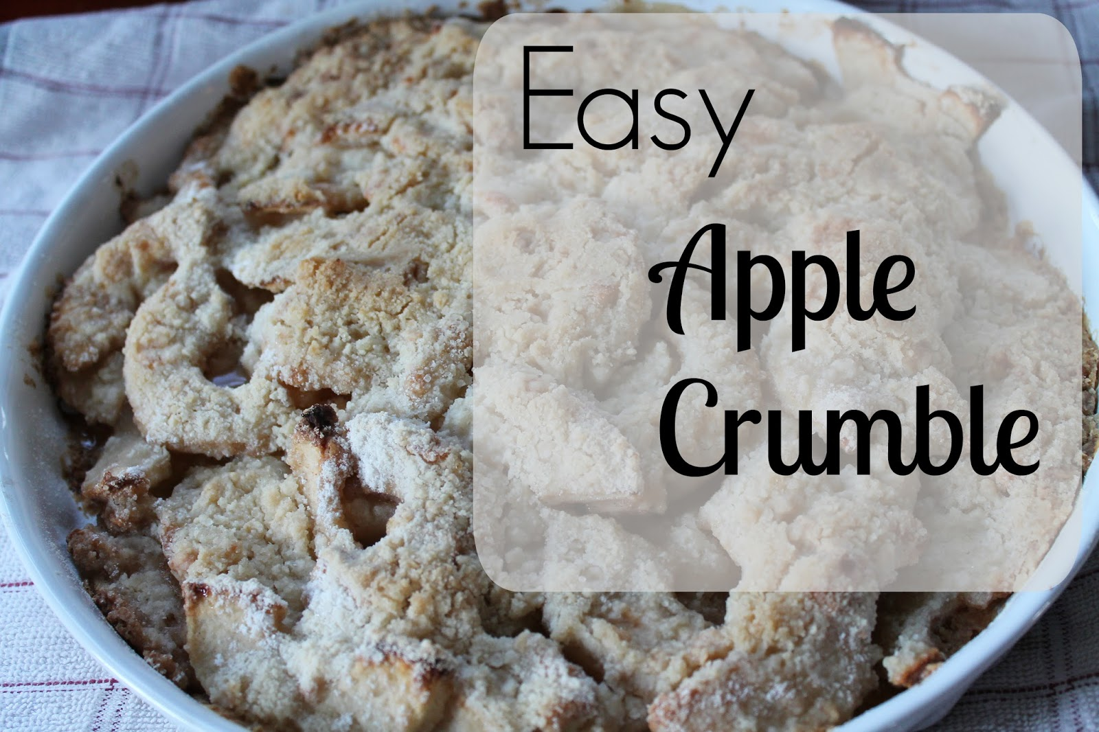 a blog for my mom easy apple crumble recipe. Black Bedroom Furniture Sets. Home Design Ideas