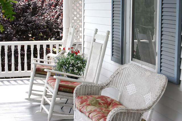 Time to sit a spell on the porch at The Claiborne House Bed and Breakfast, Virginia