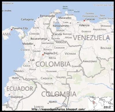 Mapa de COLOMBIA , BING