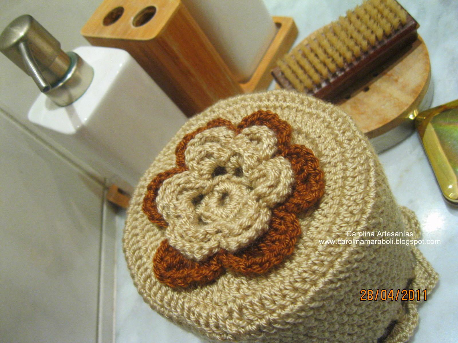 Decoracion De Baños Tejidos A Crochet:Vitrina de Carolina Artesanías (La Tienda): 172- Para el baño