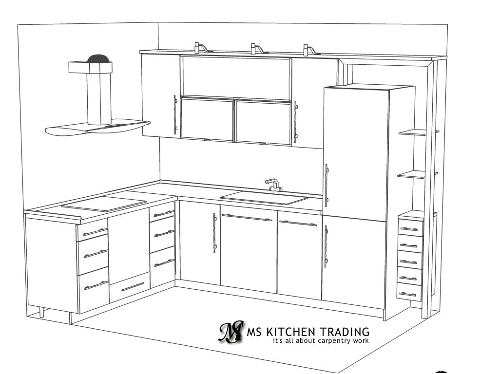 L shaped kitchen for Suggested kitchen layouts