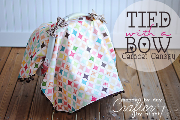 Tied With A Bow Carseat Canopy