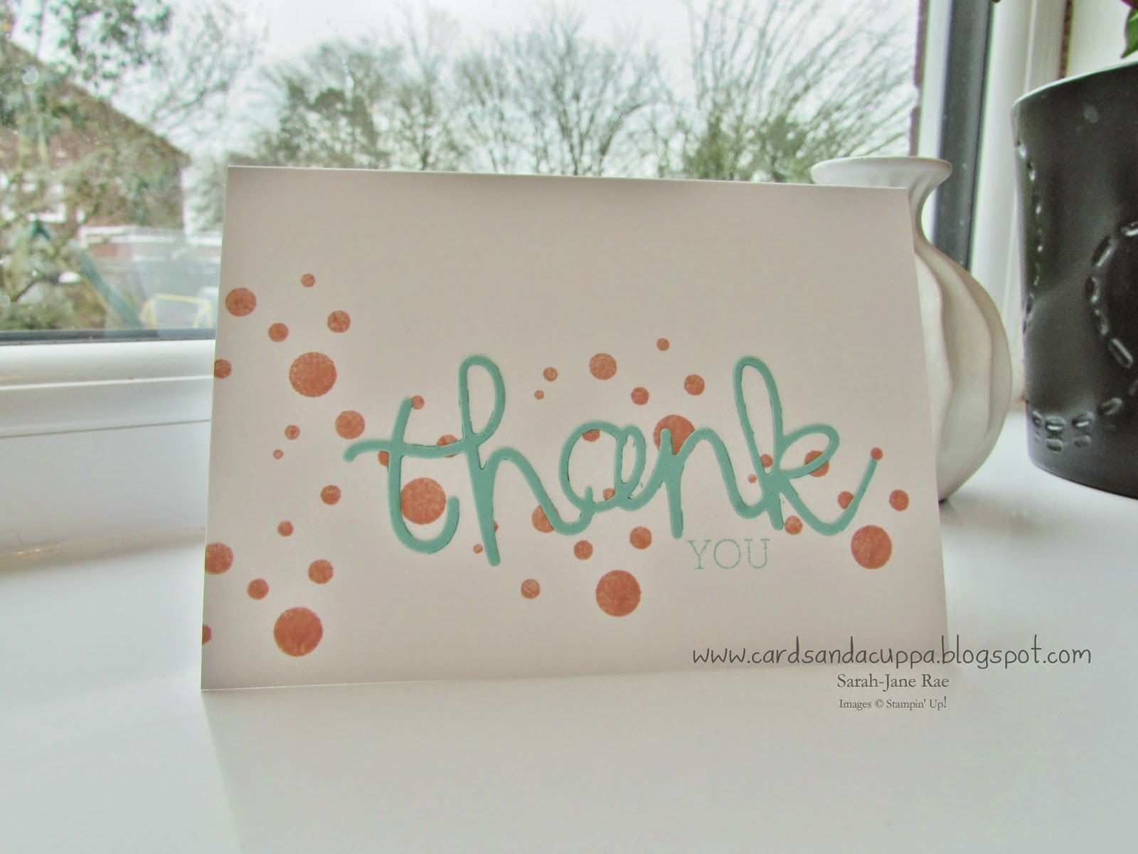 Calendar Stamp Set In Crisp Cantaloupe And Then Adding The Die Cut Word Thank Stamping You Coastal Cabana From Crazy About