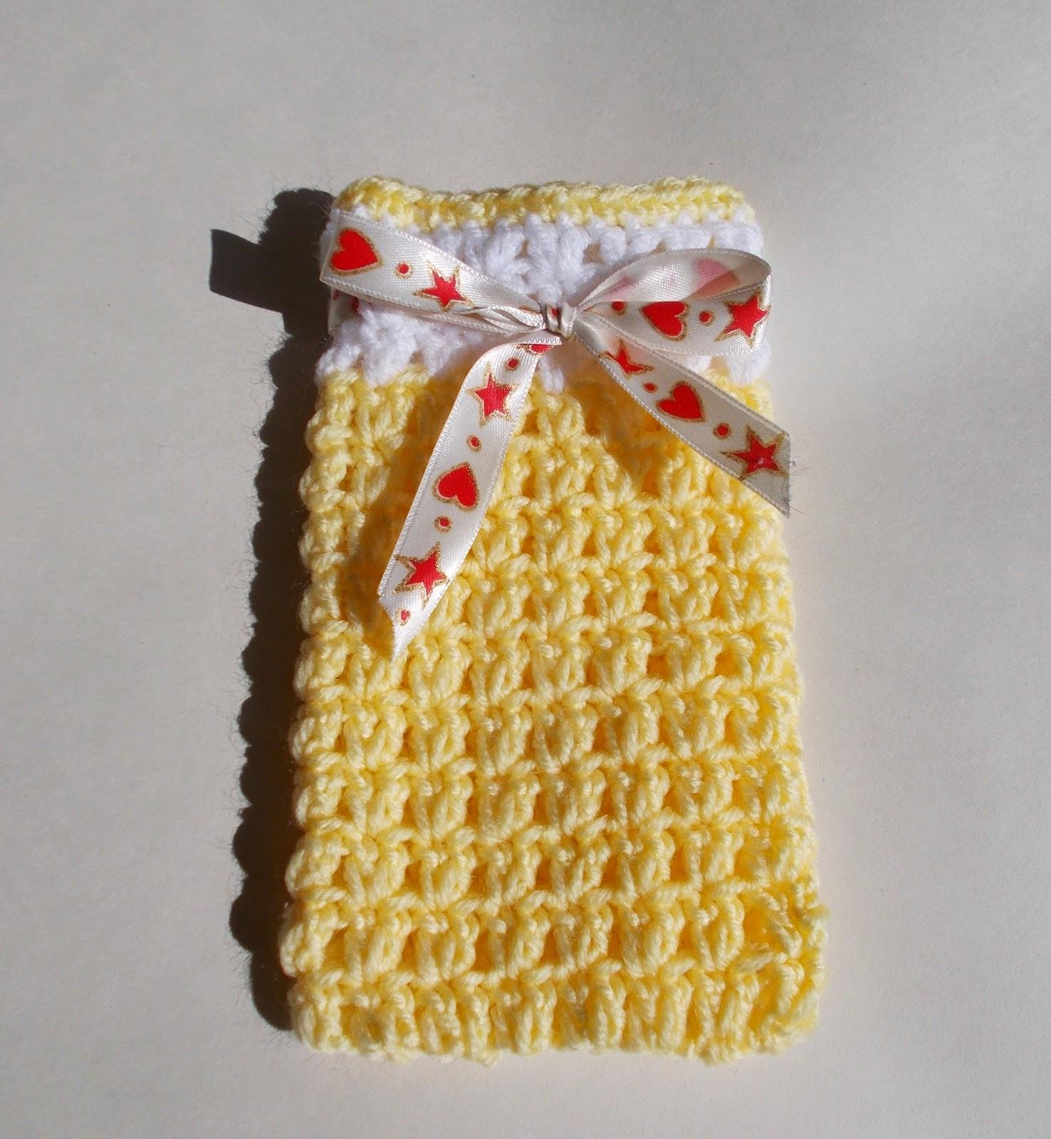 Mariannas Lazy Daisy Days Easy Crochet Gift Bags With Chocolates Dinah Dish Cloth Inside