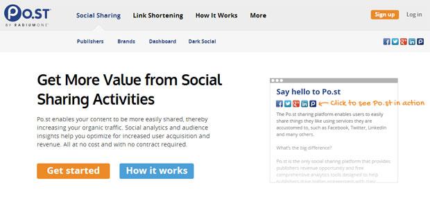 Social Sharing - Po.st