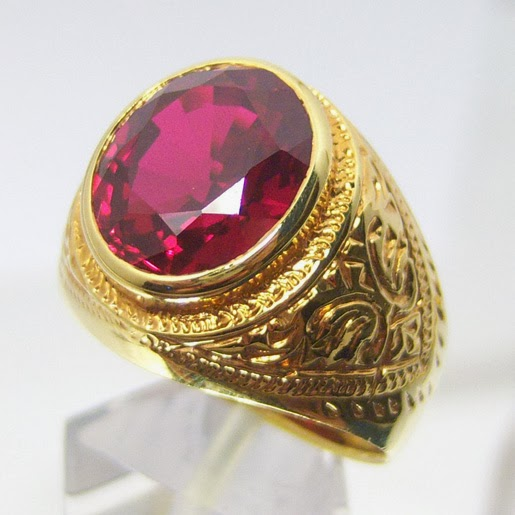Beauty And Fashion Mens Wedding Gold Rings Ruby