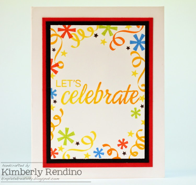 Bright Fiesta card by Kimberly Rendino | Winnie & Walter | kimpletekreativity.blogspot.com