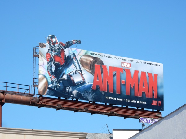 AntMan movie billboard