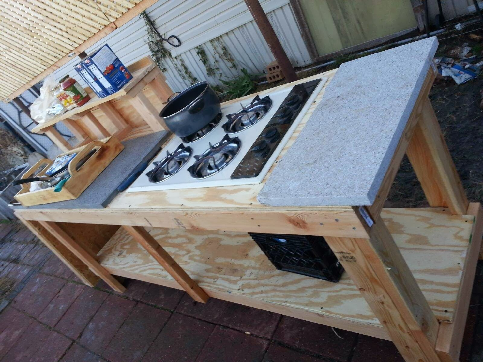 Modern day redneck december 2013 for Best camping kitchen ideas