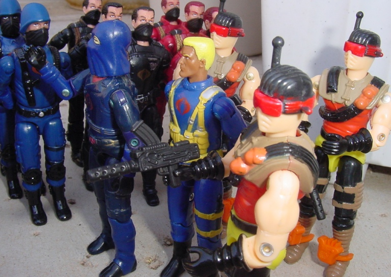 2000 Funskool Desert Scorpion, India, 1984 Cobra Commander, Cobra Trooper, Cobra Officer, Viper, Crimson Guard