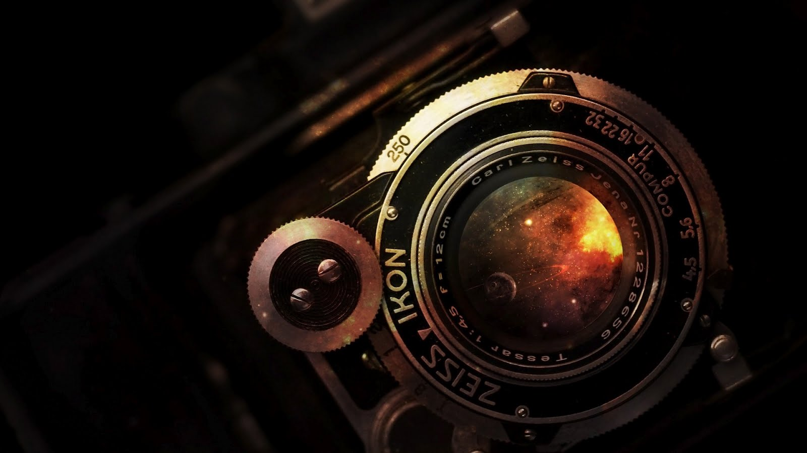 Vintage Camera Zeiss Ikon Lens, HD Wallpaper