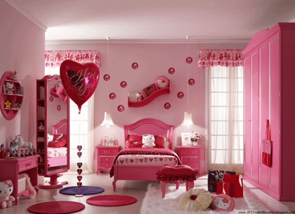 Valentine 39 s day bed decoration ideas i love you picture for Decorate for valentines day