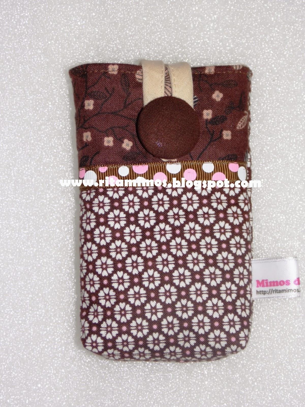 Bolsa Em Tecido Para Telemovel : Mimos da rita fornada de bolsas telem?vel em tecido