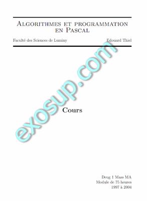 Algorithmes et programmation en Pascal