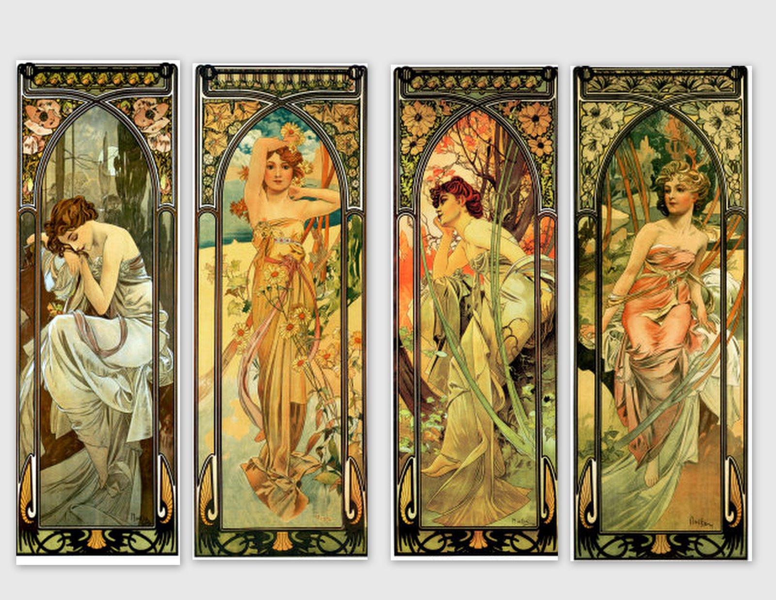 Images d\'autrefois: Images femme, art nouveau, pour décoration