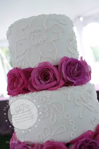 Cake walk brush embroidery lace wedding