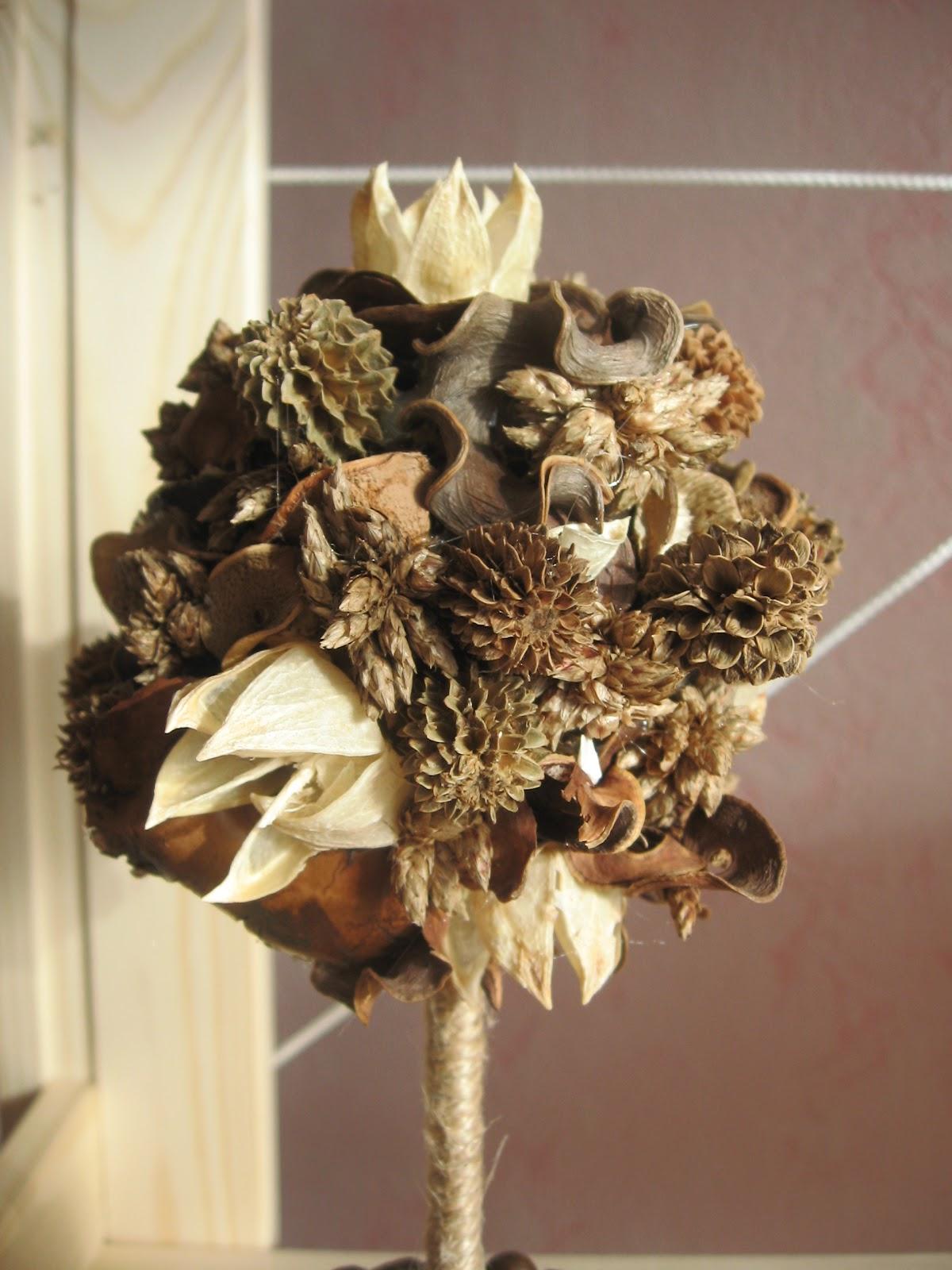 Топиарий из сухоцветов своими руками 97