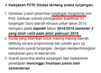 Tunjangan Fungsional 2015