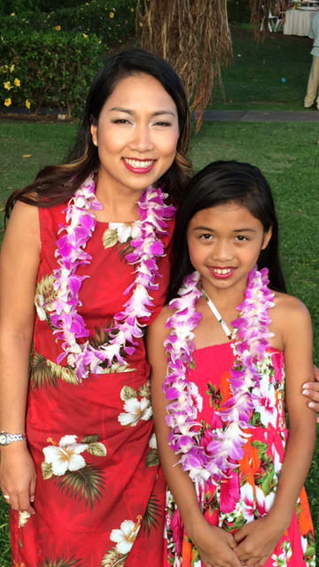 At the Luau in Wailea