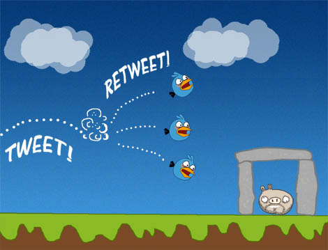angry birds retweet