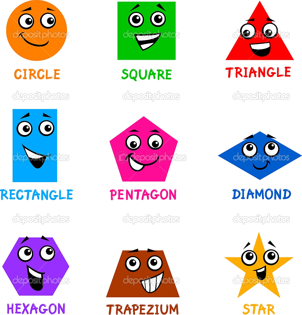 The Shapes Song (children's song for learning basic shapes ...