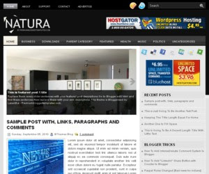 Natura Blogger Template