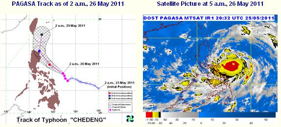 bagyong chedeng satellite image
