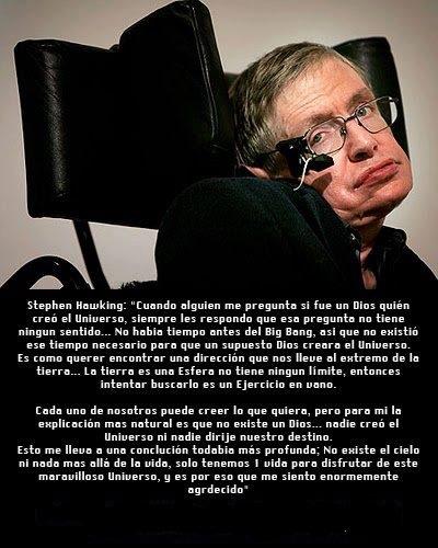 Stephen Hawking y el Dios inexistente... ¿Cómo se originó ...
