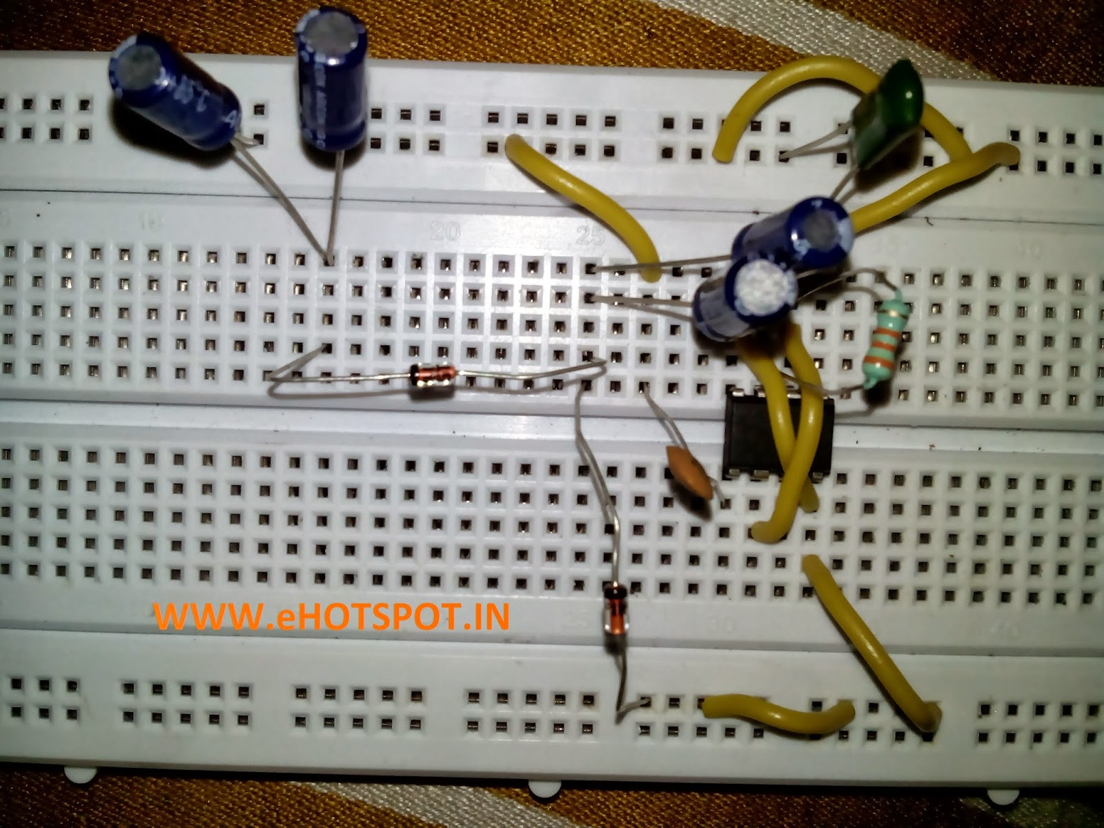 Electronics Hotspot 555 Everything About Switch Circuit Electronic Project Using Timer Bc547 Transistors Components Used 1one Ic