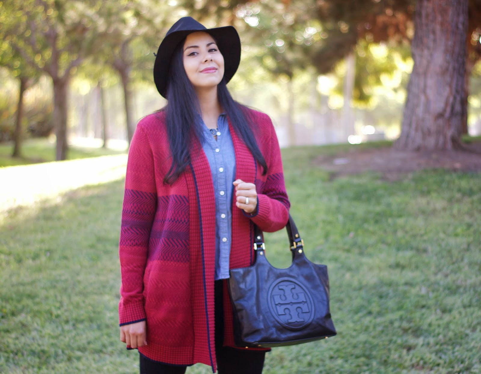 how to wear a fedora in Fall, cozy knit for Fall 2014, oxblood for Fall 2014, wine colored sweater, san diego fashion blogger, how to wear a knit for Fall, how to wear burgundy in winter, cabi clothing knits, dark lipstick for Fall