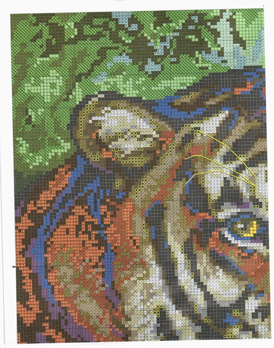 Вышивка тигренок схема скачать бесплатно фото 435