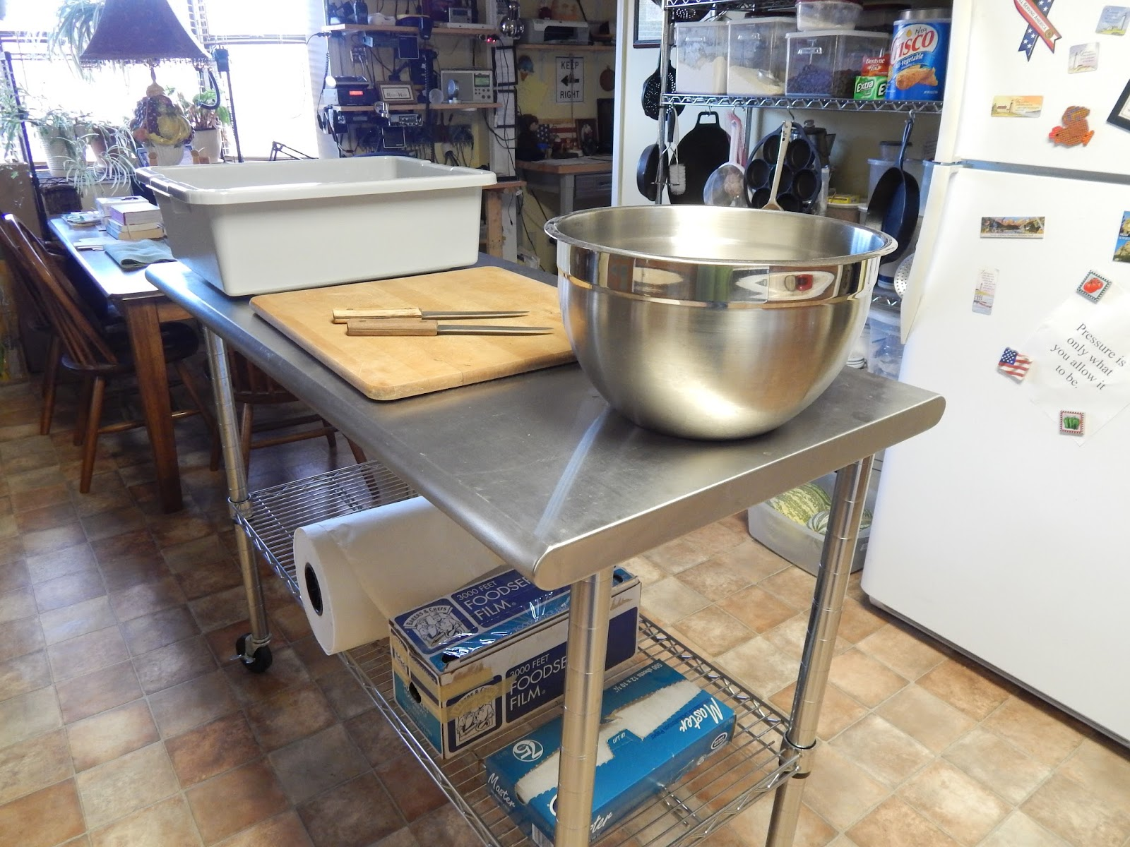 The Butcher Paper, Plastic Film And Masking Tape Were Brought In The  Kitchen Along With A Bus Tub. The Last Time We Butchered Goats I Tried  Using Waxed ...