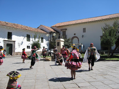 Traditional dancing in Cusco